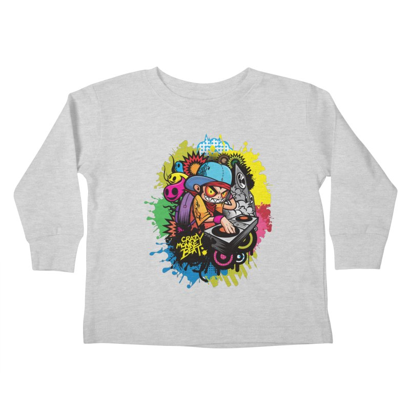 CRAZY MONKEY BEAT 2 Kids Toddler Longsleeve T-Shirt by hookeeak's Artist Shop