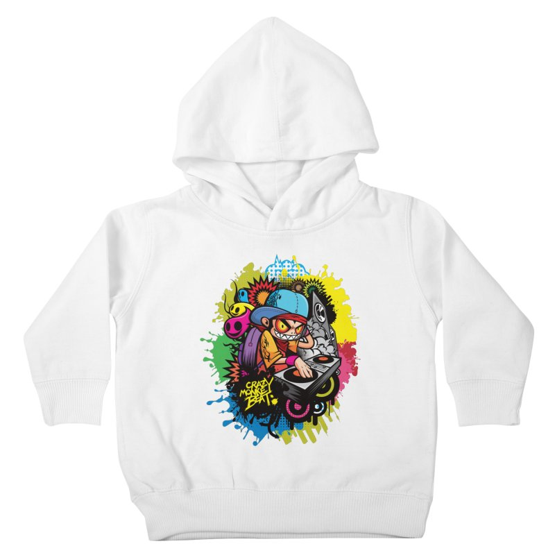 CRAZY MONKEY BEAT 2 Kids Toddler Pullover Hoody by hookeeak's Artist Shop