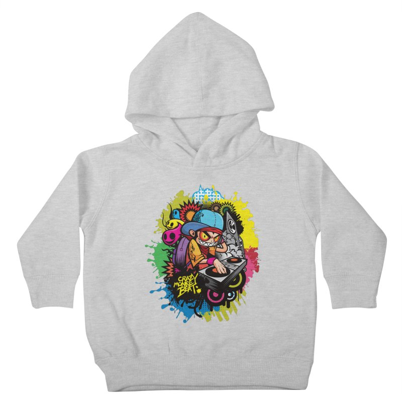 CRAZY MONKEY BEAT 2 Kids Toddler Pullover Hoody by hookeeak's Artist Shop