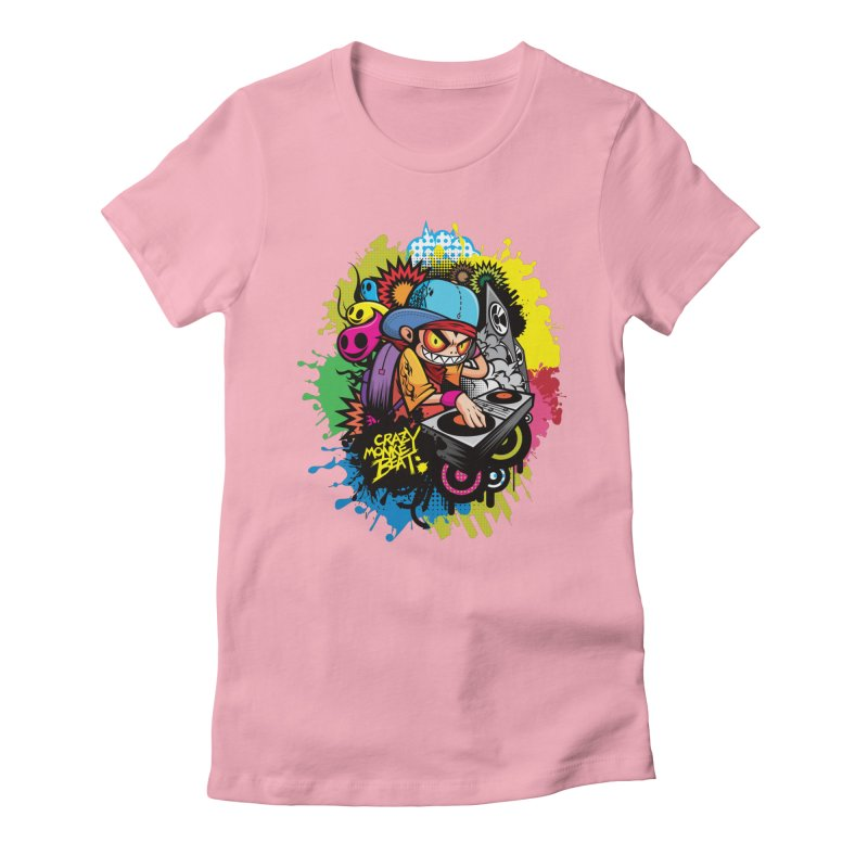 CRAZY MONKEY BEAT 2 Women's Fitted T-Shirt by hookeeak's Artist Shop