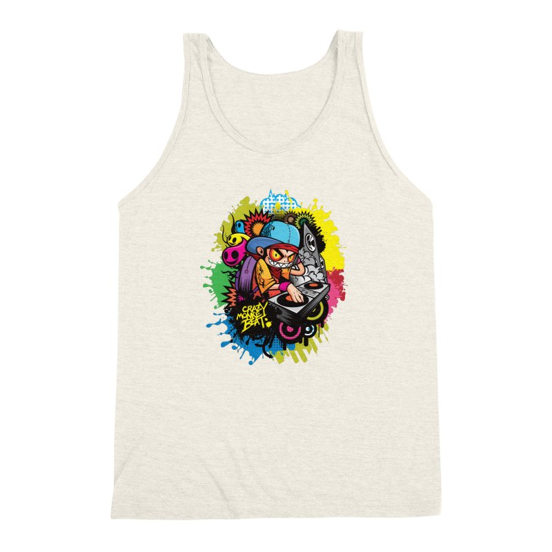 CRAZY MONKEY BEAT 2 Men's Triblend Tank by hookeeak's Artist Shop