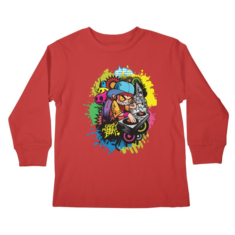 CRAZY MONKEY BEAT 2 Kids Longsleeve T-Shirt by hookeeak's Artist Shop