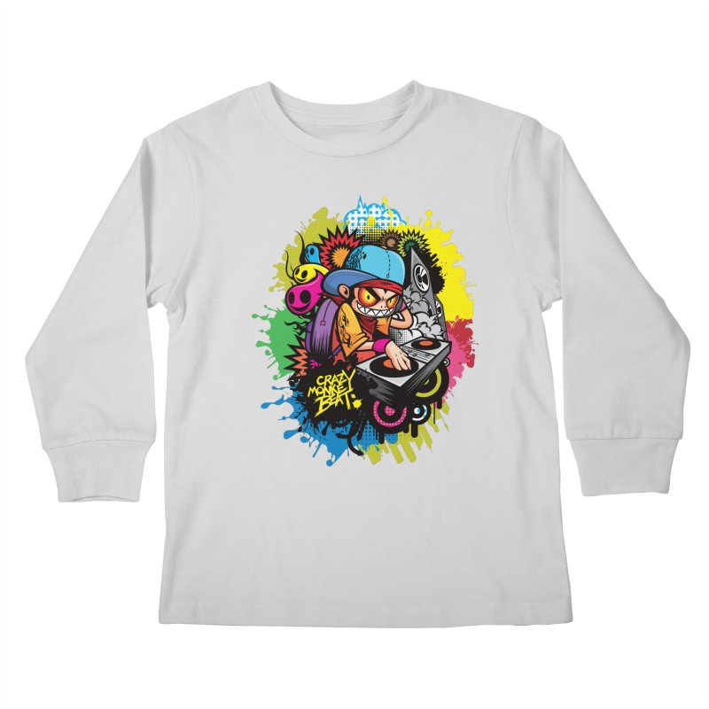 CRAZY MONKEY BEAT 2 Kids Longsleeve T-Shirt by hookeeak's Artist Shop