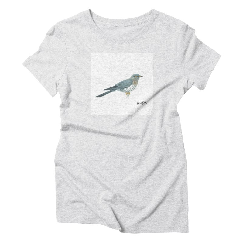 Save the Cuckoo in Women's Triblend T-Shirt Heather White by Hope For Our Children's Artist Shop