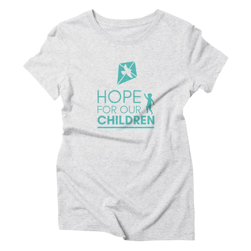 HFOC Logo in Women's Triblend T-Shirt Heather White by Hope For Our Children's Artist Shop