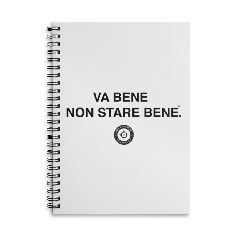 IT'S OK Italian Black Lettering Accessories Lined Spiral Notebook by Hope for the Day Shop