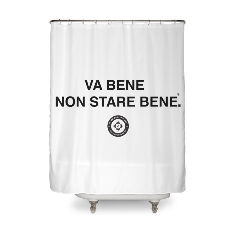 IT'S OK Italian Black Lettering Home Shower Curtain by Hope for the Day Shop