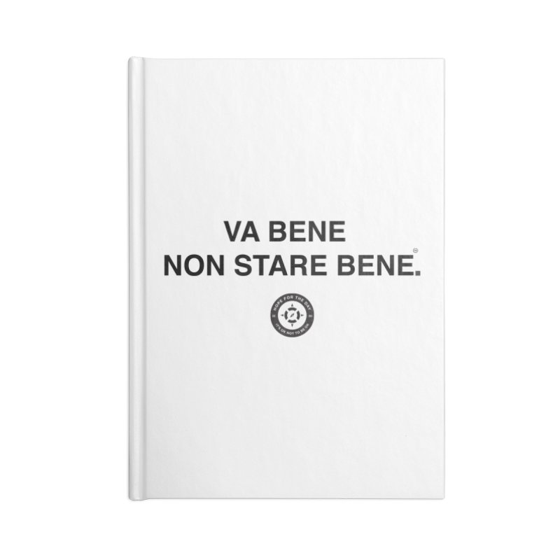 IT'S OK Italian Black Lettering Accessories Lined Journal Notebook by Hope for the Day Shop