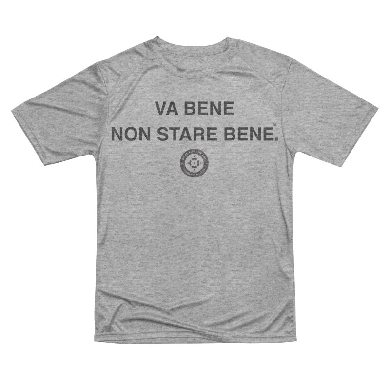 IT'S OK Italian Black Lettering Men's Performance T-Shirt by Hope for the Day Shop