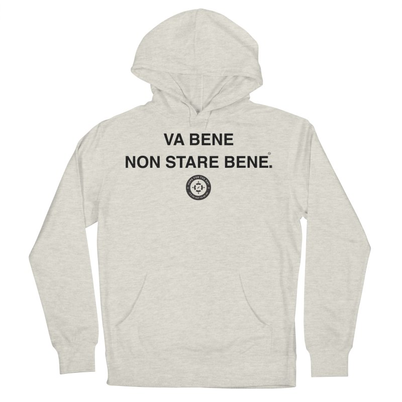 IT'S OK Italian Black Lettering Men's French Terry Pullover Hoody by Hope for the Day Shop