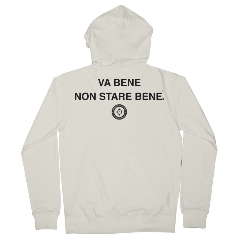 IT'S OK Italian Black Lettering Men's French Terry Zip-Up Hoody by Hope for the Day Shop