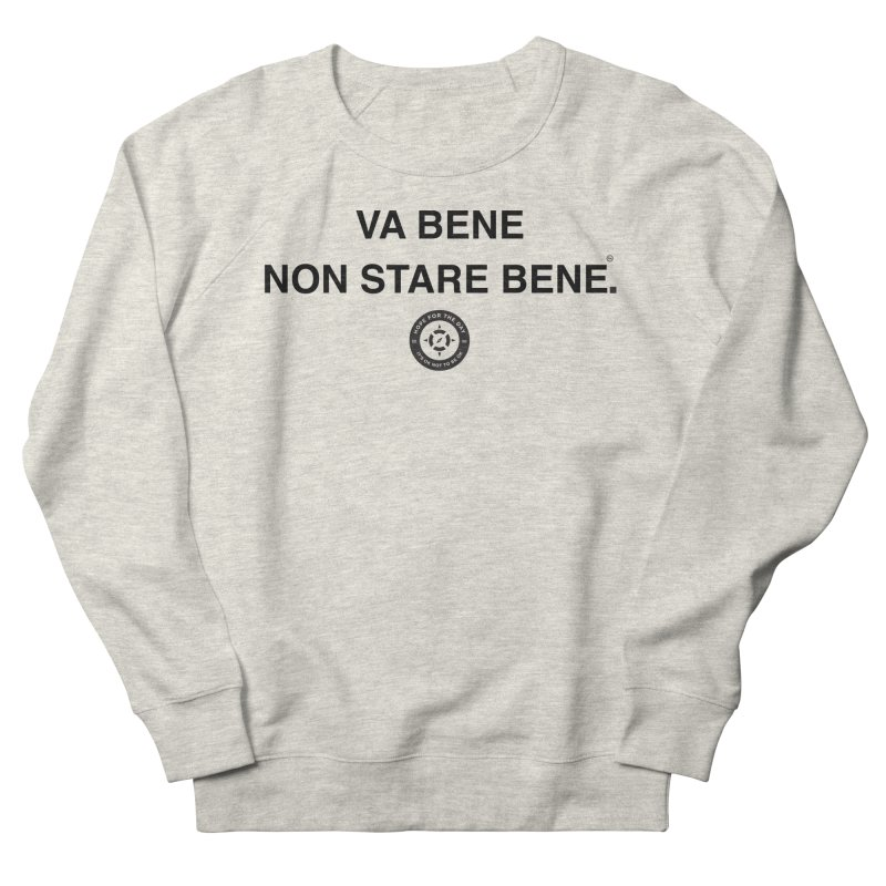 IT'S OK Italian Black Lettering Men's French Terry Sweatshirt by Hope for the Day Shop