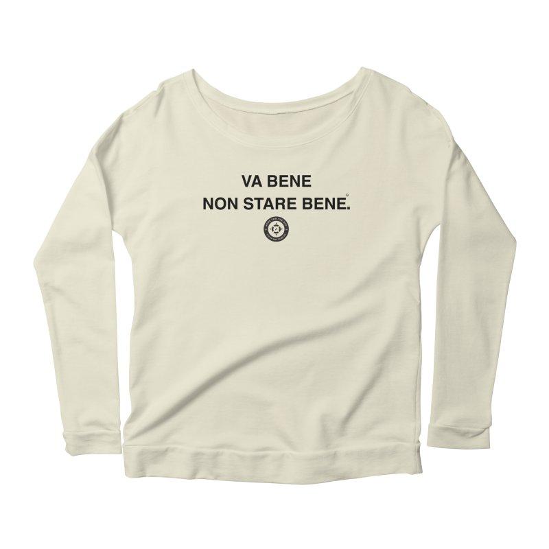 IT'S OK Italian Black Lettering Women's Scoop Neck Longsleeve T-Shirt by Hope for the Day Shop
