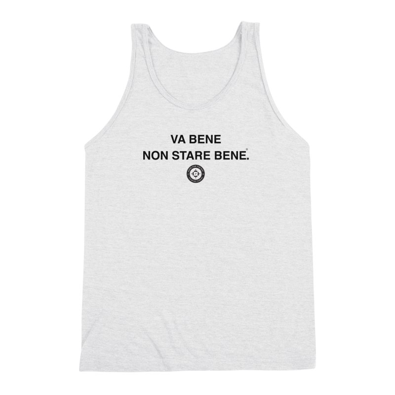 IT'S OK Italian Black Lettering Men's Triblend Tank by Hope for the Day Shop