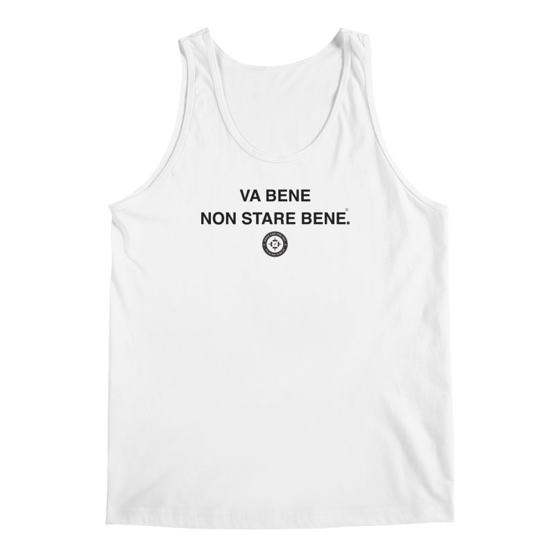 IT'S OK Italian Black Lettering Men's Regular Tank by Hope for the Day Shop