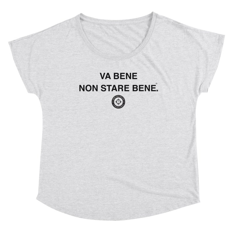 IT'S OK Italian Black Lettering Women's Scoop Neck by Hope for the Day Shop