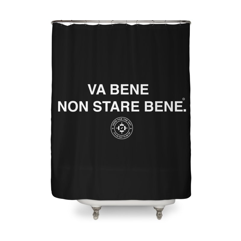 IT'S OK Italian White Lettering Home Shower Curtain by Hope for the Day Shop