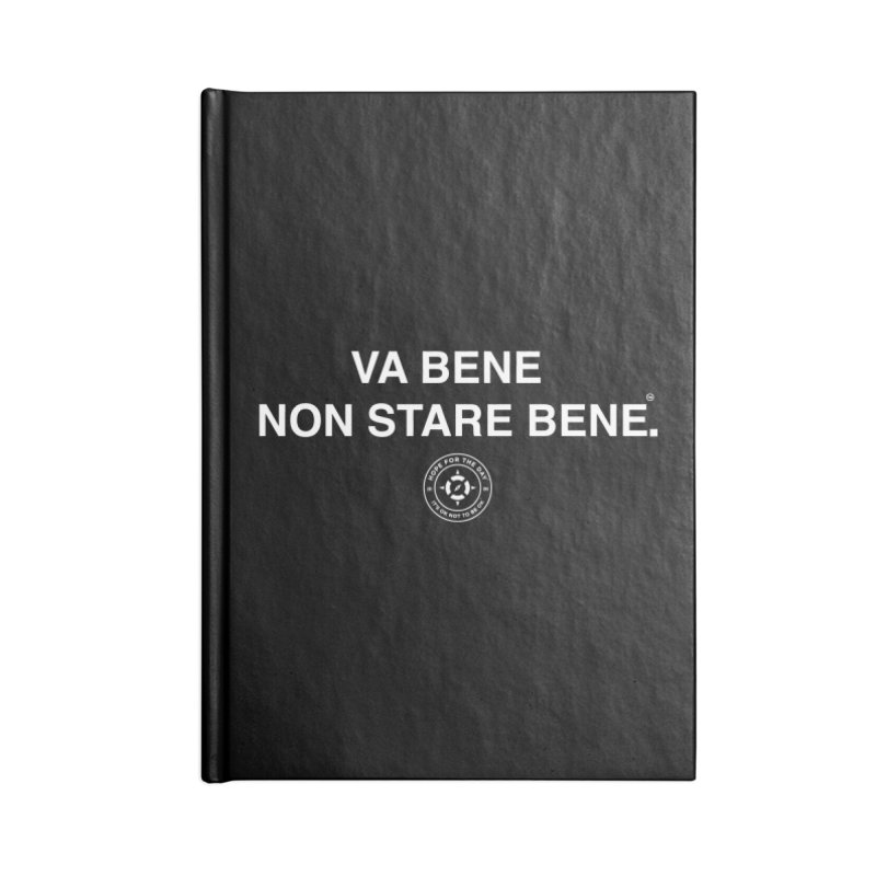 IT'S OK Italian White Lettering Accessories Blank Journal Notebook by Hope for the Day Shop
