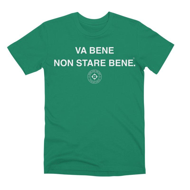 IT'S OK Italian White Lettering Men's Premium T-Shirt by Hope for the Day Shop
