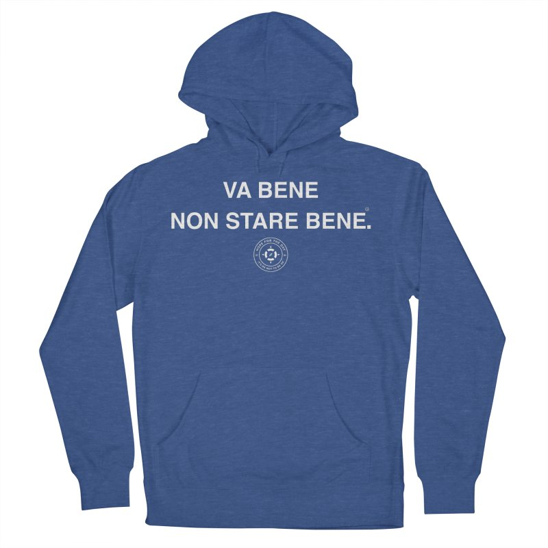 IT'S OK Italian White Lettering Women's French Terry Pullover Hoody by Hope for the Day Shop