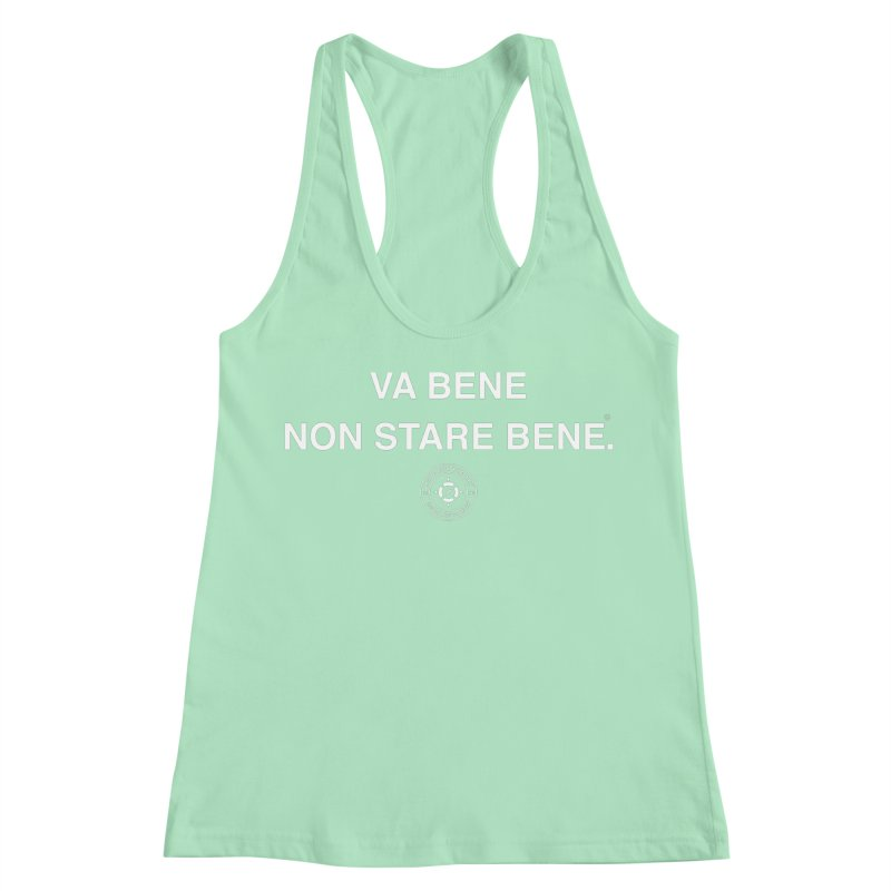 IT'S OK Italian White Lettering Women's Racerback Tank by Hope for the Day Shop