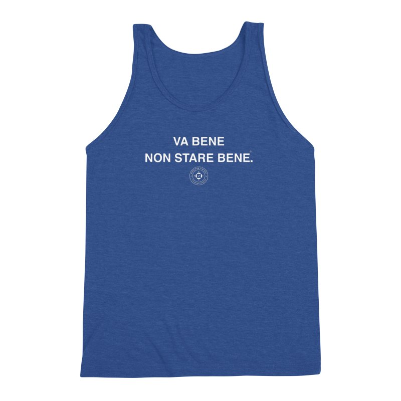 IT'S OK Italian White Lettering Men's Triblend Tank by Hope for the Day Shop
