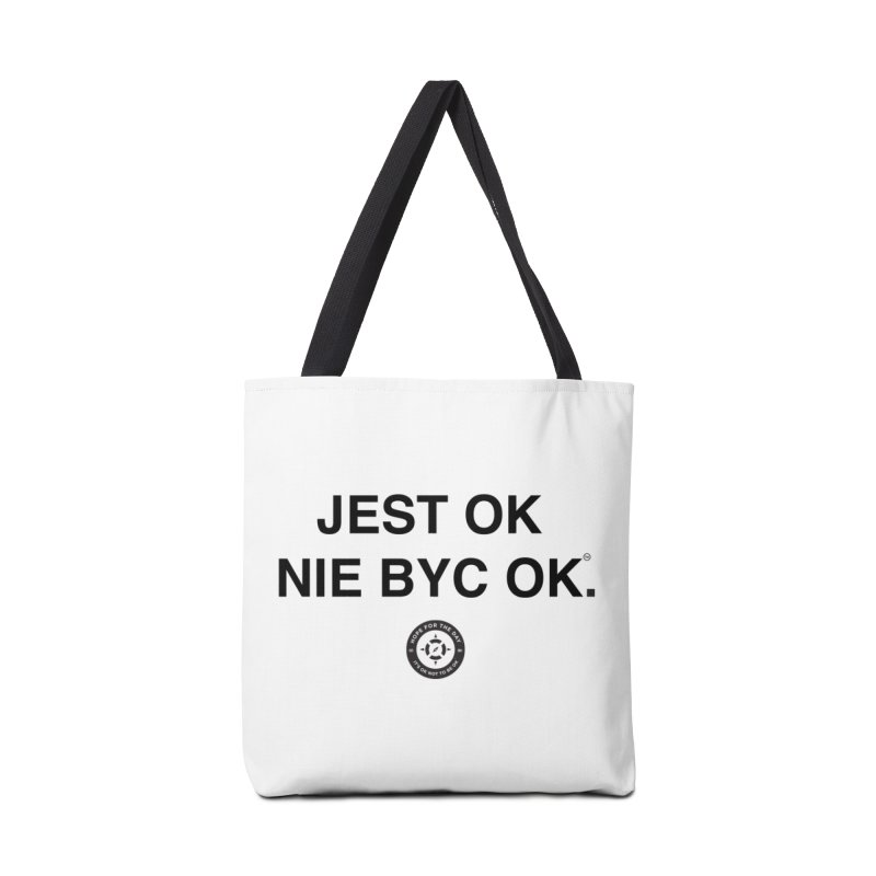 IT'S OK Polish Black Lettering Accessories Tote Bag Bag by Hope for the Day Shop