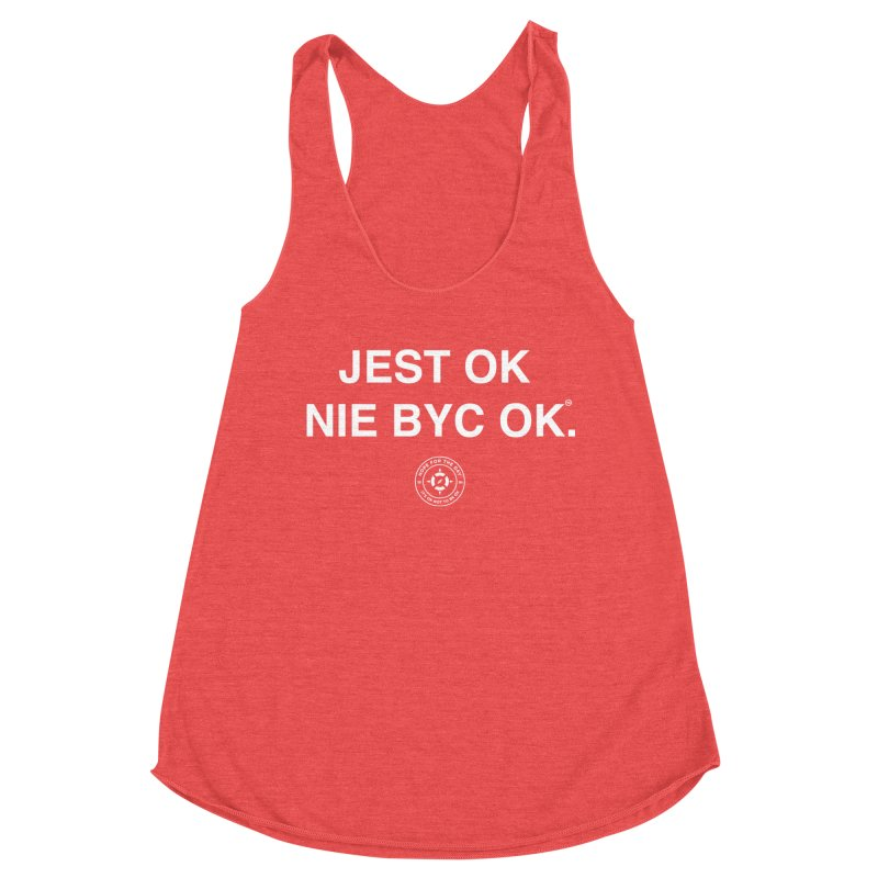 IT'S OK Polish White Lettering Women's Tank by Hope for the Day Shop