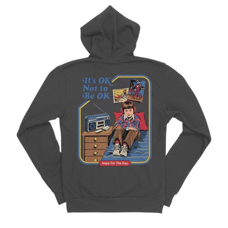 Steven Rhodes - Artist Series Men's Sponge Fleece Zip-Up Hoody by Hope for the Day Shop
