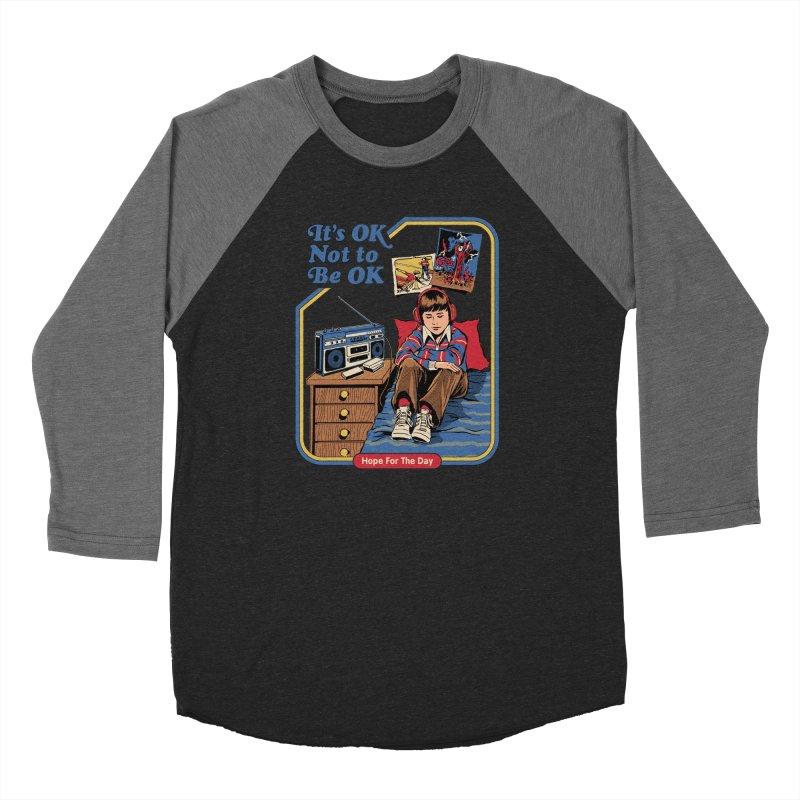 Steven Rhodes - Artist Series Men's Baseball Triblend Longsleeve T-Shirt by Hope for the Day Shop
