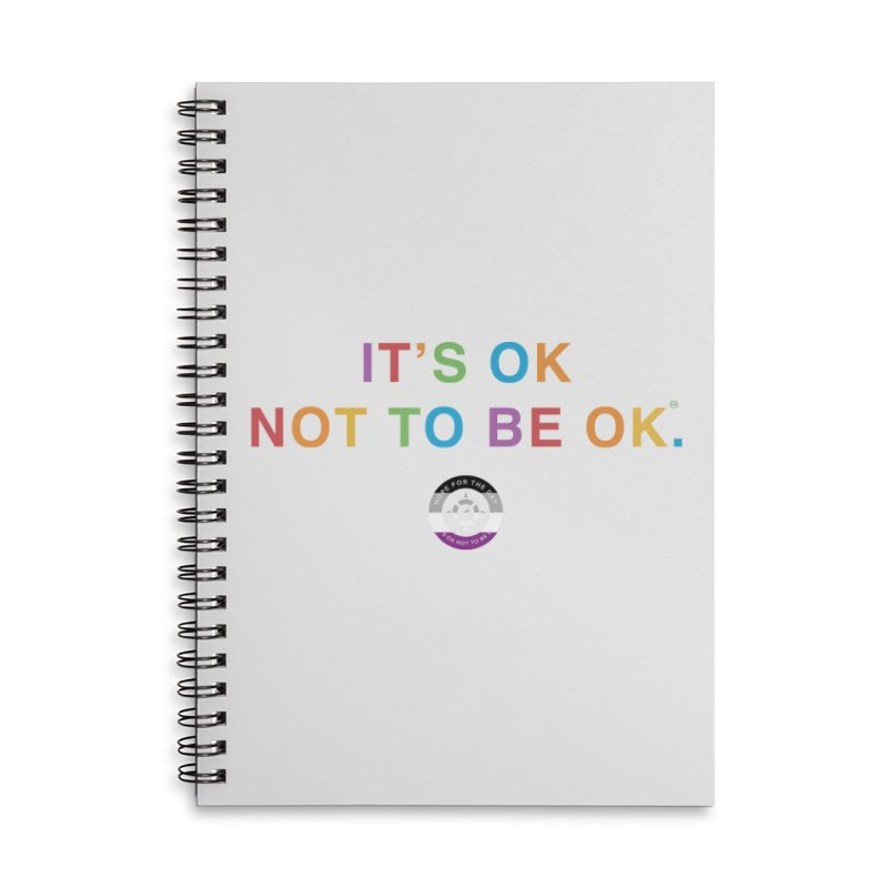 IT'S OK Asexual Flag Accessories Notebook by Hope for the Day Shop