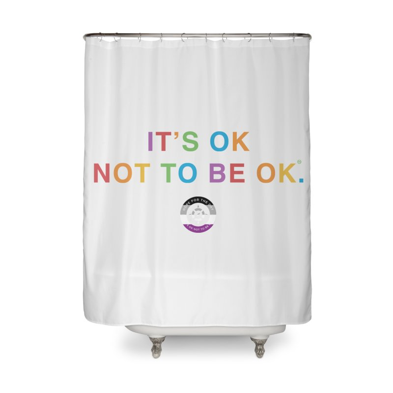IT'S OK Asexual Flag Home Shower Curtain by Hope for the Day Shop