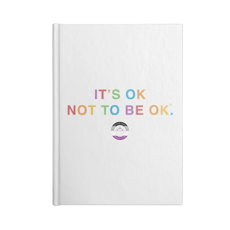 IT'S OK Asexual Flag Accessories Blank Journal Notebook by Hope for the Day Shop