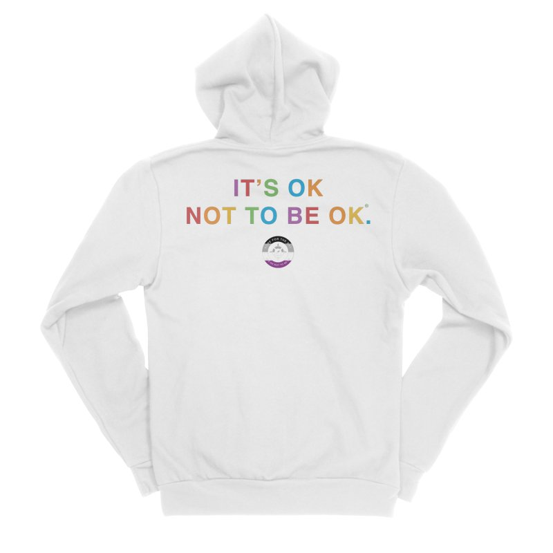 IT'S OK Asexual Flag Men's Sponge Fleece Zip-Up Hoody by Hope for the Day Shop