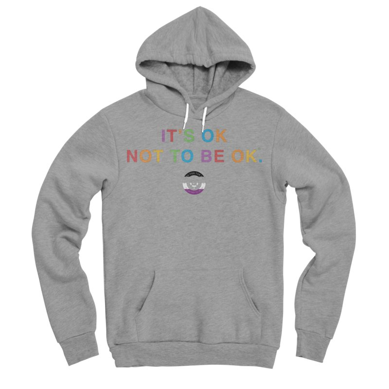 IT'S OK Asexual Flag Men's Sponge Fleece Pullover Hoody by Hope for the Day Shop
