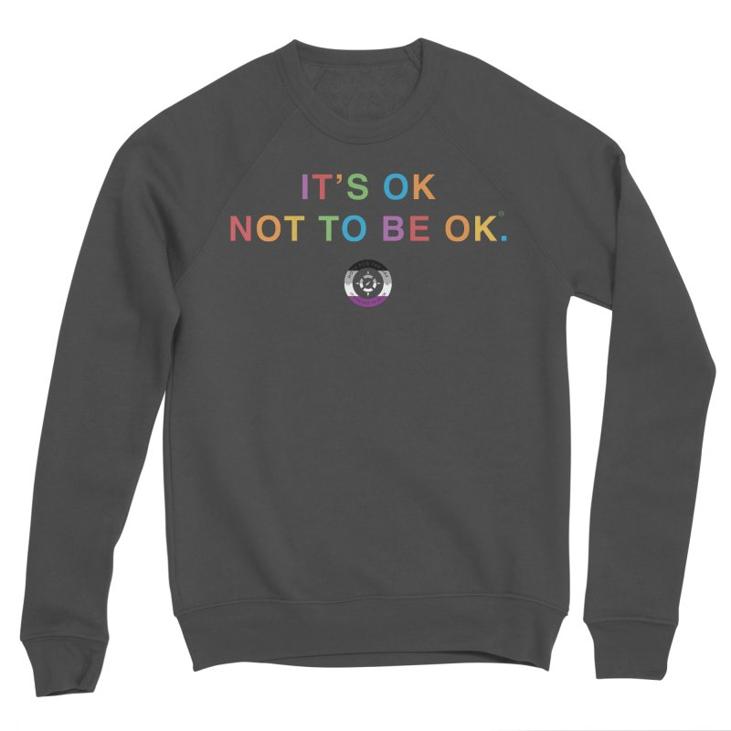 IT'S OK Asexual Flag Men's Sponge Fleece Sweatshirt by Hope for the Day Shop