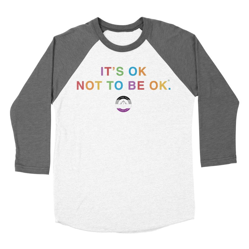 IT'S OK Asexual Flag Women's Baseball Triblend Longsleeve T-Shirt by Hope for the Day Shop