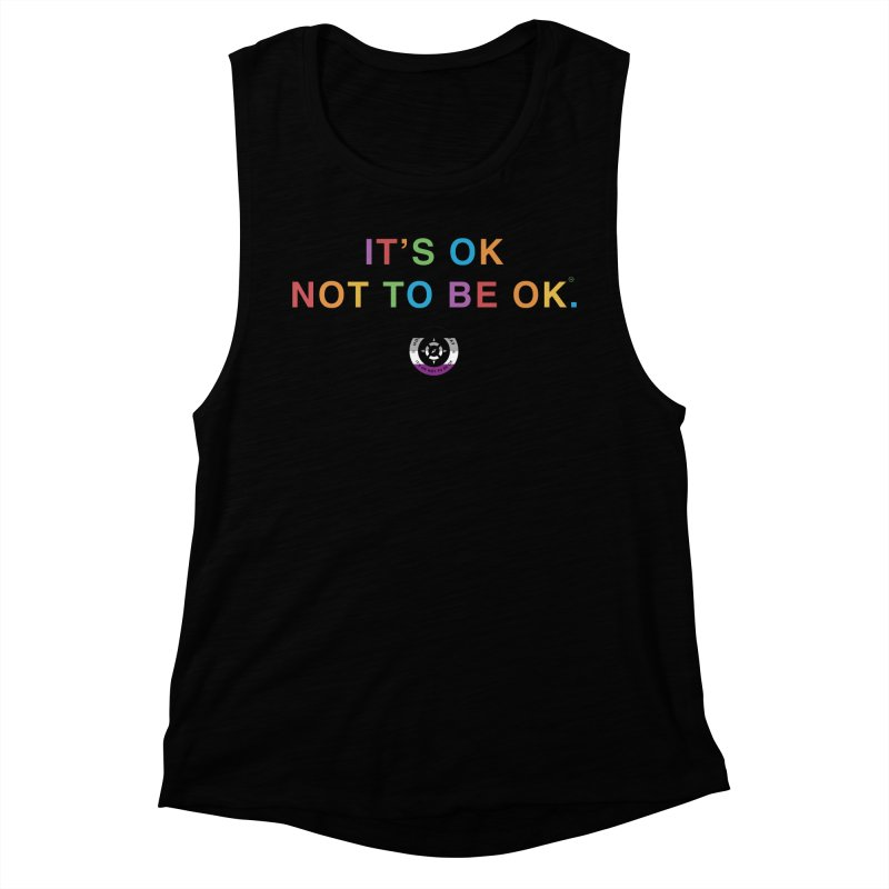 IT'S OK Asexual Flag Women's Muscle Tank by Hope for the Day Shop