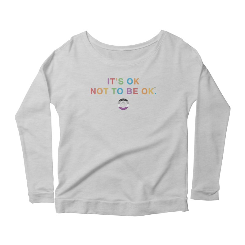 IT'S OK Asexual Flag Women's Scoop Neck Longsleeve T-Shirt by Hope for the Day Shop