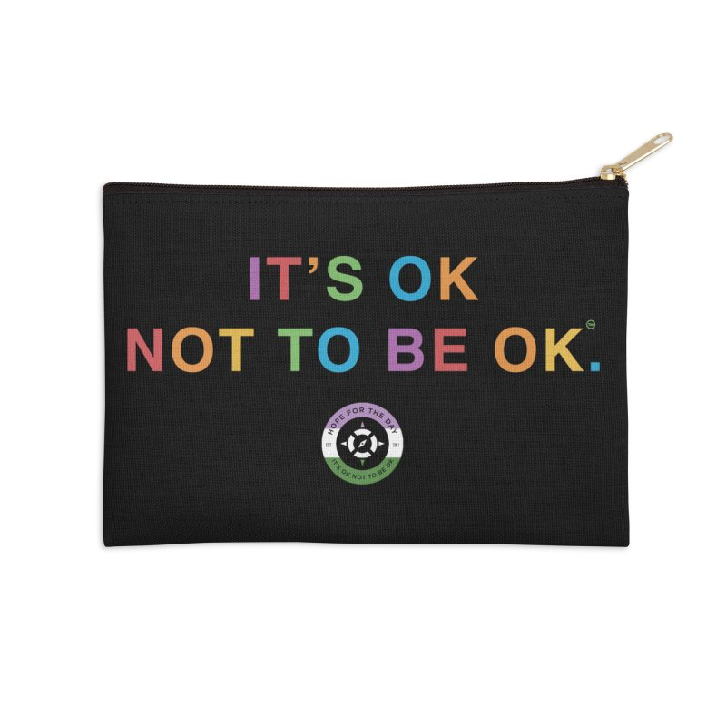 IT'S OK Genderqueer (Non-Binary) Accessories Zip Pouch by Hope for the Day Shop