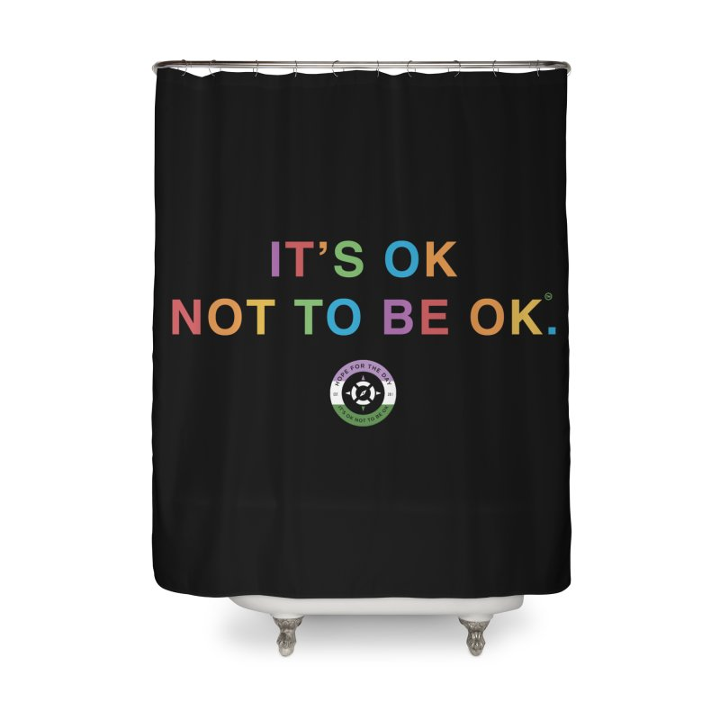 IT'S OK Genderqueer (Non-Binary) Home Shower Curtain by Hope for the Day Shop