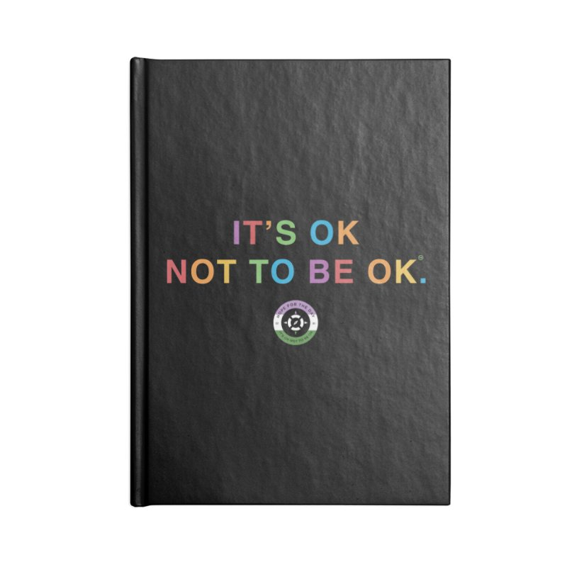 IT'S OK Genderqueer (Non-Binary) Accessories Lined Journal Notebook by Hope for the Day Shop