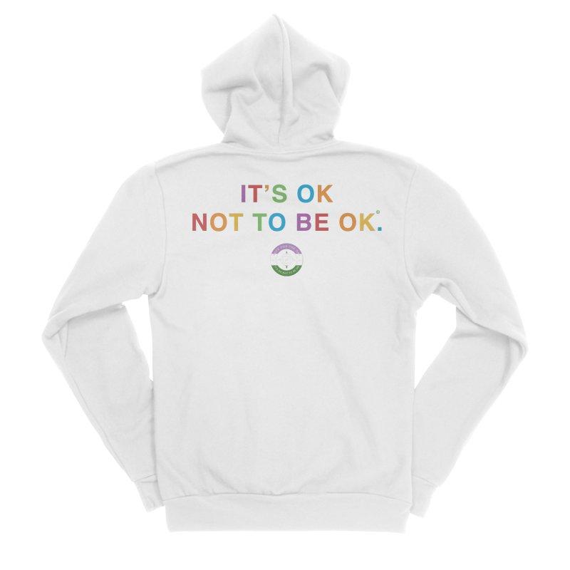 IT'S OK Genderqueer (Non-Binary) Women's Sponge Fleece Zip-Up Hoody by Hope for the Day Shop