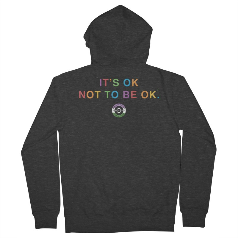 IT'S OK Genderqueer (Non-Binary) Men's French Terry Zip-Up Hoody by Hope for the Day Shop
