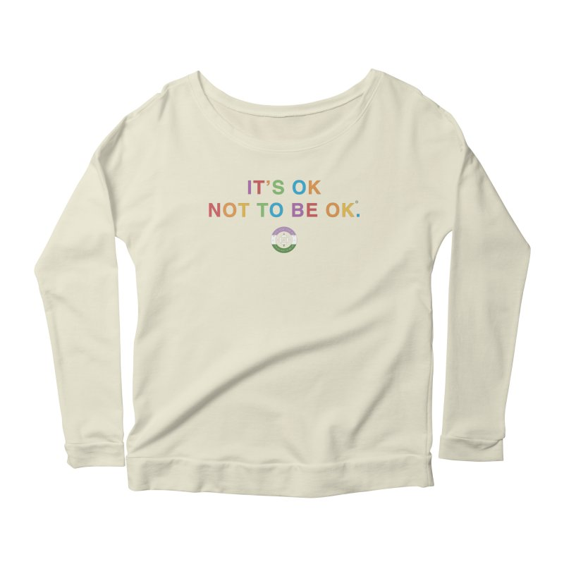 IT'S OK Genderqueer (Non-Binary) Women's Scoop Neck Longsleeve T-Shirt by Hope for the Day Shop