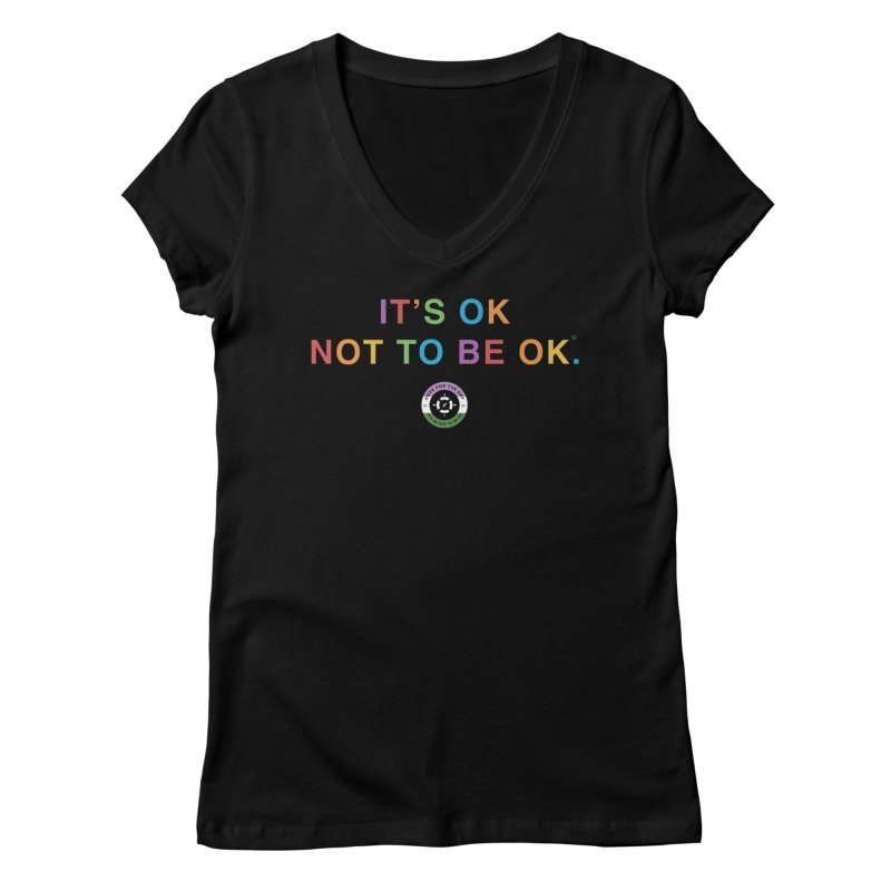 IT'S OK Genderqueer (Non-Binary) Women's V-Neck by Hope for the Day Shop