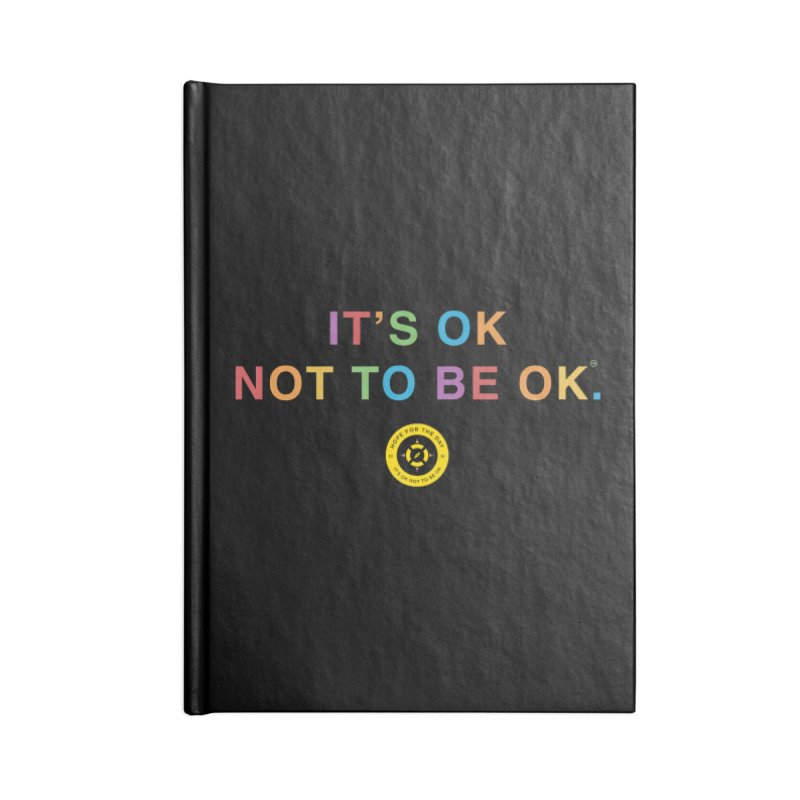 IT'S OK Intersex Accessories Blank Journal Notebook by Hope for the Day Shop