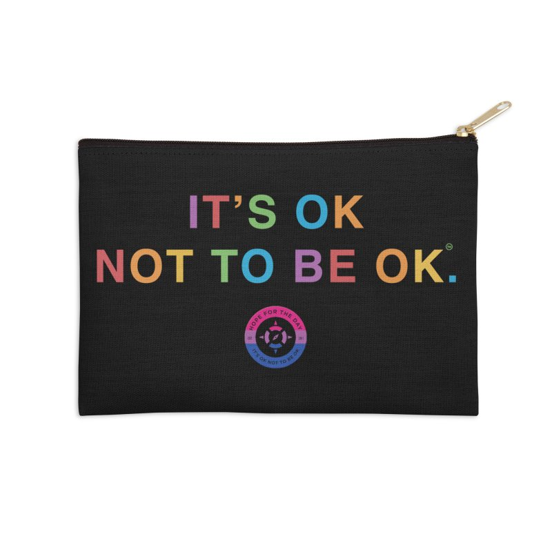 IT'S OK Bisexual Accessories Zip Pouch by Hope for the Day Shop