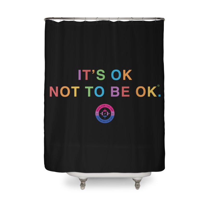 IT'S OK Bisexual Home Shower Curtain by Hope for the Day Shop