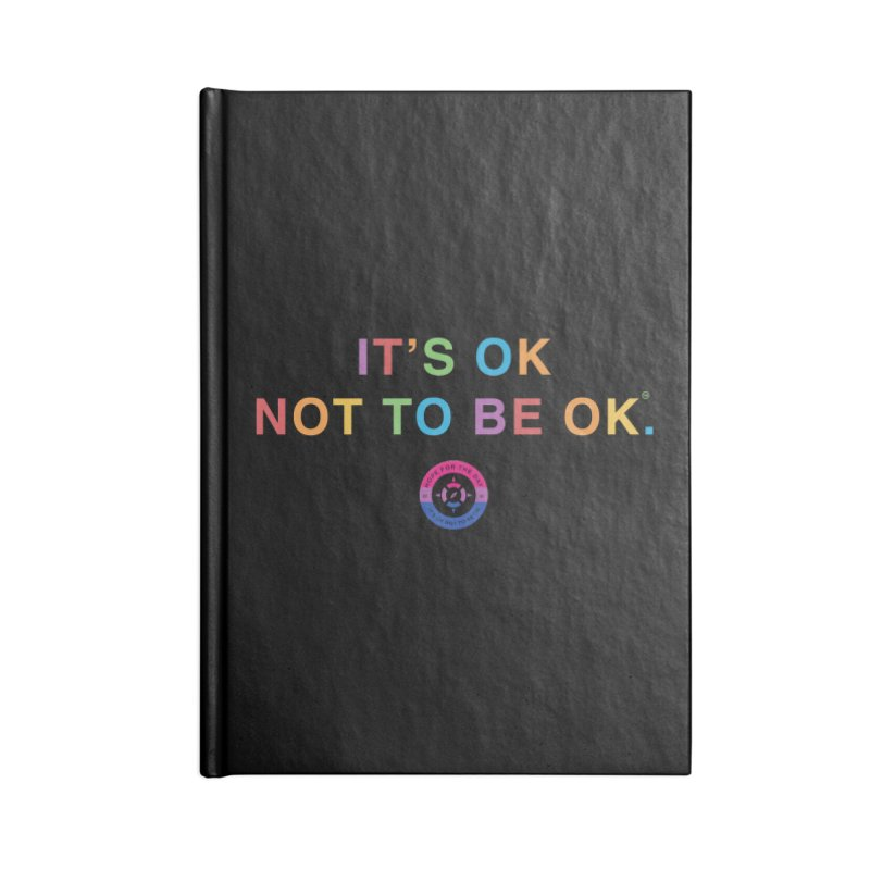 IT'S OK Bisexual Accessories Blank Journal Notebook by Hope for the Day Shop